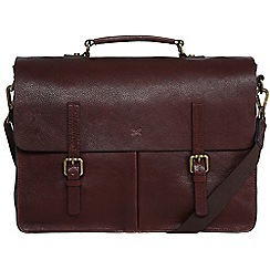Made by Stitch - Espresso 'Lorton' handmade leather briefcase