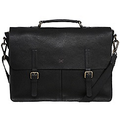 Made by Stitch - Liquorice 'Lorton' handmade 15-inch laptop sleeve leather briefcase