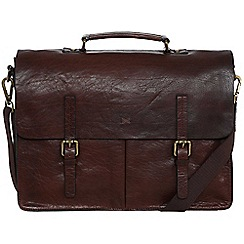 Made by Stitch - Malt 'Lorton' handmade leather briefcase