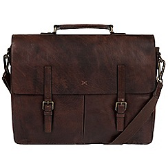 Made by Stitch - Malt 'Lorton' handmade cowhide briefcase