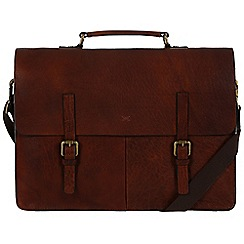 Made by Stitch - Treacle 'Lorton' handmade vintage leather 14 laptop satchel