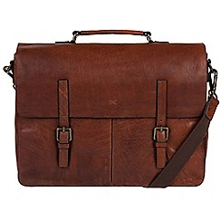 Made by Stitch - Treacle 'Lorton' handmade cowhide briefcase