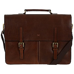 Made by Stitch - Veg-tan 'Lorton' handmade leather briefcase