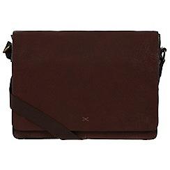 Made by Stitch - Espresso 'Tom' handmade leather messenger bag