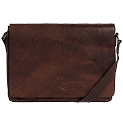 Made by Stitch - Malt 'Tom' handmade leather laptop messenger bag