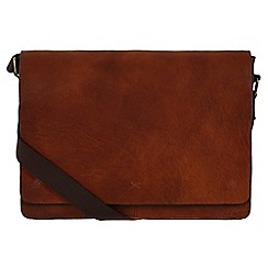 Made by Stitch - Treacle 'Tom' handmade vintage leather 14 laptop messenger bag