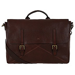 Made by Stitch - Espresso 'Big Andrew' handmade vintage leather 14 laptop satchel