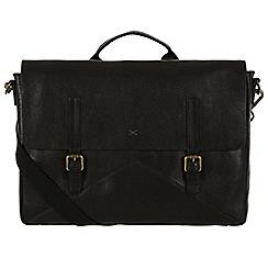Made by Stitch - Liquorice 'Big Andrew' handmade leather 14 laptop satchel