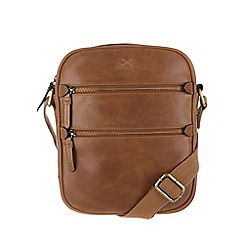 Made by Stitch - Butterscotch 'Grange' leather cross-body bag