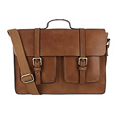 Made by Stitch - Butterscotch 'Woodbridge' leather laptop satchel