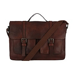 Made by Stitch - Treacle 'Woodbridge' leather laptop satchel