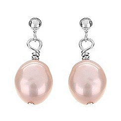 Pure Luxuries London - Gift packaged pink freshwater baroque pearl earrings