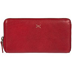 Made by Stitch - Red 'Lil' handmade leather RFID zip-round purse