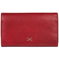 Made by Stitch - Red 'Jennie' handmade leather RFID purse