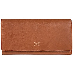 Made by Stitch - Cognac 'Karen' handmade leather RFID purse