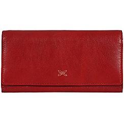 Made by Stitch - Raspberry 'Karen' handmade leather purse