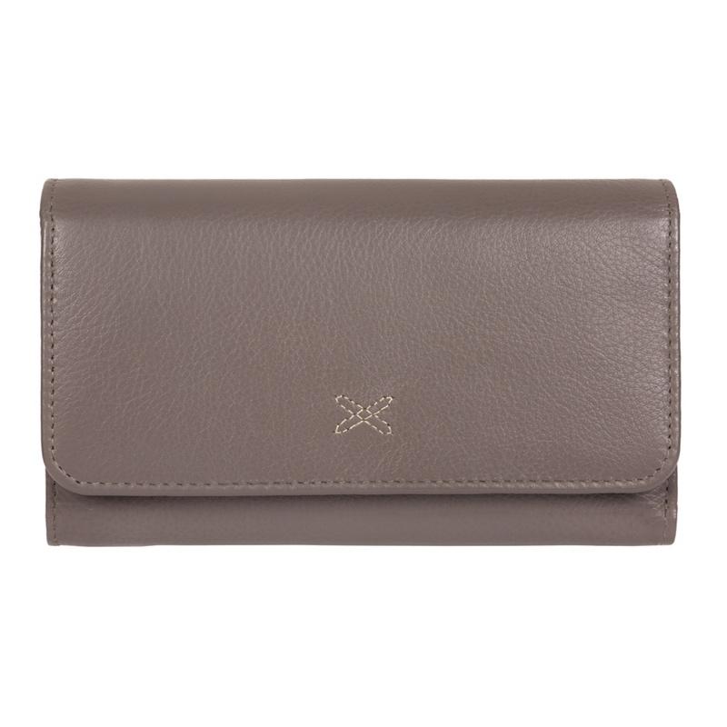87805f15cb191 Made by Stitch - Taupe Grey  Klara  Handcrafted Leather Rfid Purse ...