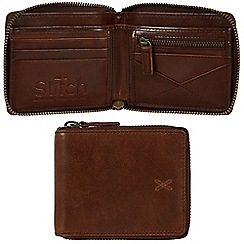 Made by Stitch - Veg-tan 'Caldbeck' handmade leather zipped wallet