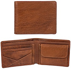Made by Stitch - Cognac 'Hawkshead' handcrafted leather RFID wallet