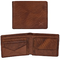 Made by Stitch - Treacle brown 'Hawkshead' handcrafted leather RFID wallet