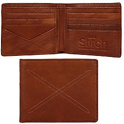 Made by Stitch - Cognac 'Bentham' handmade leather wallet