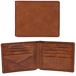 Made by Stitch - Cognac 'Bentham' handcrafted leather RFID wallet