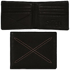 Made by Stitch - Liquorice 'Bentham' handmade leather wallet