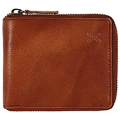 Made by Stitch - Cognac 'Arklebury' handmade leather zipped wallet