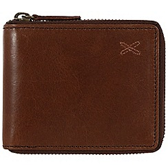 Made by Stitch - Veg-tan 'Arklebury' handmade leather zipped wallet