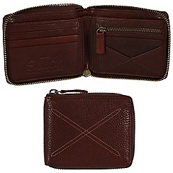 Made by Stitch - Espresso 'Winster' handmade leather 12-card zipped wallet
