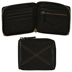 Made by Stitch - Liquorice 'Winster' handmade 12-card leather wallet