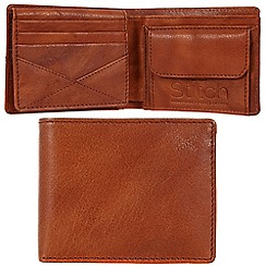 Made by Stitch - Cognac 'Rusland' handmade leather wallet