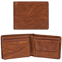 Made by Stitch - Cognac 'Rusland' handcrafted leather RFID wallet