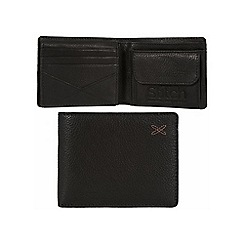 Made by Stitch - Liquorice 'Rusland' handmade leather wallet