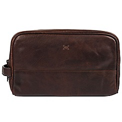Made by Stitch - Malt 'Bowfell' handcrafted leather wash bag