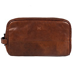 Made by Stitch - Treacle 'Bowfell' handcrafted leather wash bag