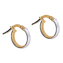 Pure Luxuries London - Gift packaged 'Sabela' 9ct yellow gold and white gold earrings
