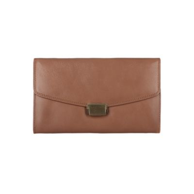 Conkca London Chestnut ´Aviator´ veg-tanned leather travel wallet - . -