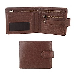 Conkca London - Conker brown 'Theo' handcrafted leather wallet