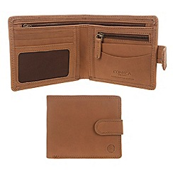 Conkca London - Light chestnut 'Theo' vintage leather wallet