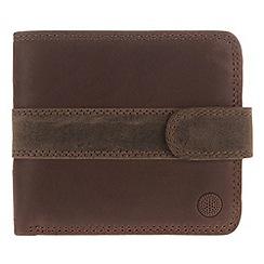 Conkca London - Conker brown 'Evan' vintage leather wallet in gift box