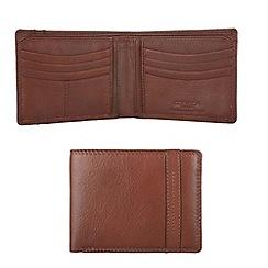 Conkca London - Cognac 'Fabian' veg-tanned leather wallet