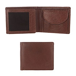 Conkca London - Conker brown 'Solomon' handcrafted leather wallet