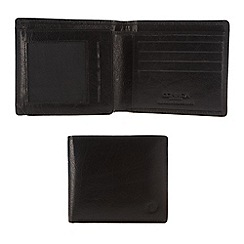 Conkca London - Oxford black 'Rex' handcrafted leather wallet