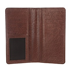 Conkca London - Conker brown 'Bowen' handcrafted leather tall wallet