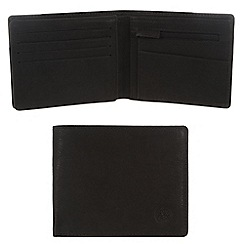 Conkca London - Vintage styled black 'Dodd' leather wallet