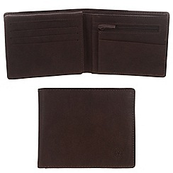 Conkca London - Vintage styled brown 'Dodd' leather wallet