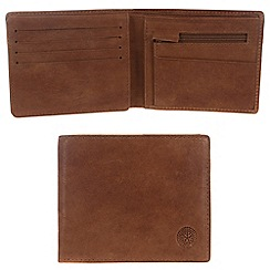 Conkca London - Vintage styled tan 'Dodd' leather wallet