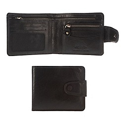 Conkca London - Oxford black 'Clark' handcrafted leather wallet