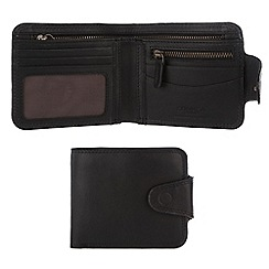 Conkca London - Oxford black 'Clark' vintage leather wallet in gift box